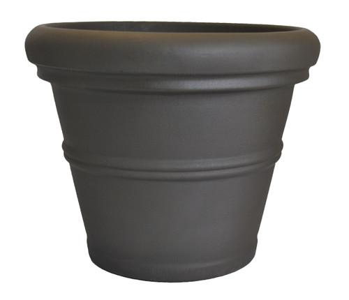 Tusco Rolled Rim Planter Espresso Plastic