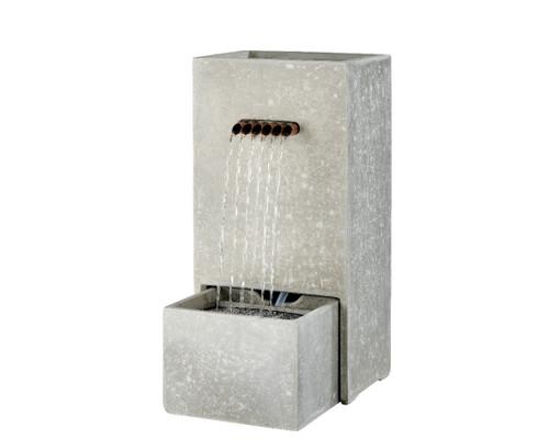 Lightweight Rectangle Grey Spill Fountain Small
