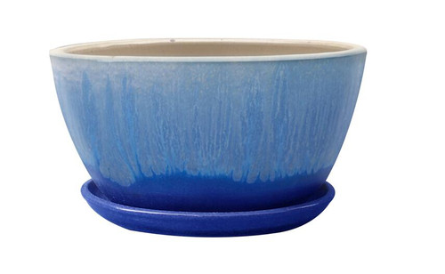 Glazed Ceramic Caspian Bowl Bella