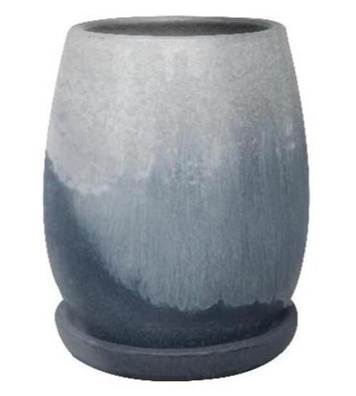 Glazed Ceramic Artisan Tall Pot Grey