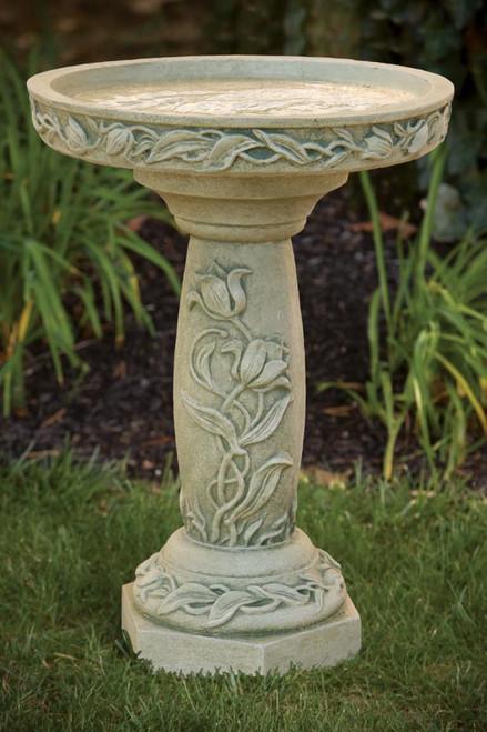 Tulip Garden Bird Bath