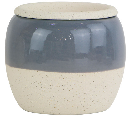 Glazed Ceramic Amara Two Tone Self Watering Planter Grey - 6 inch