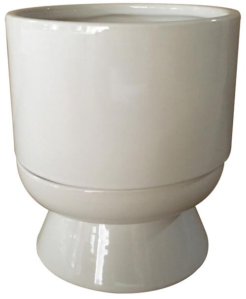 Glazed Ceramic Lex White - 6 inch