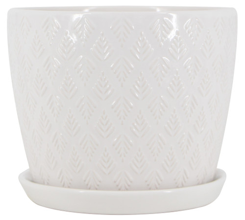 Glazed Ceramic Mateo Planter - 7 inch