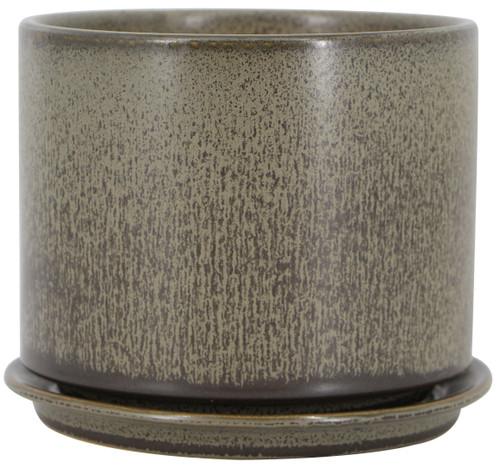 Glazed Ceramic Sandrift Cylinder - 5 inch