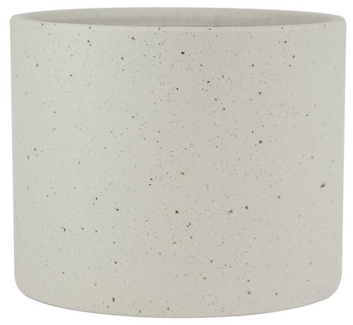 Glazed Ceramic Stoneware Planter White - 5 inch