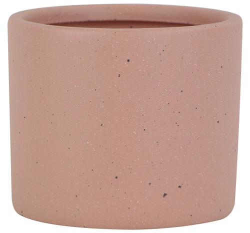 Glazed Ceramic Stoneware Planter Coral - 7.5 inch