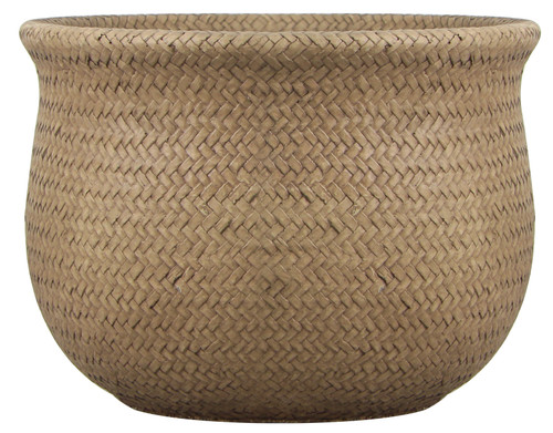 Glazed Ceramic Weft Planter - 5.5 inch
