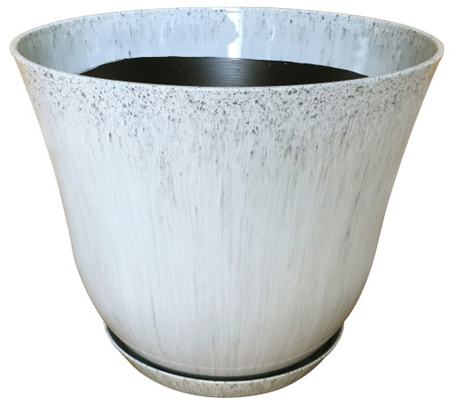 Glazed Ceramic Lily Planter Gulfstream - 12 inch