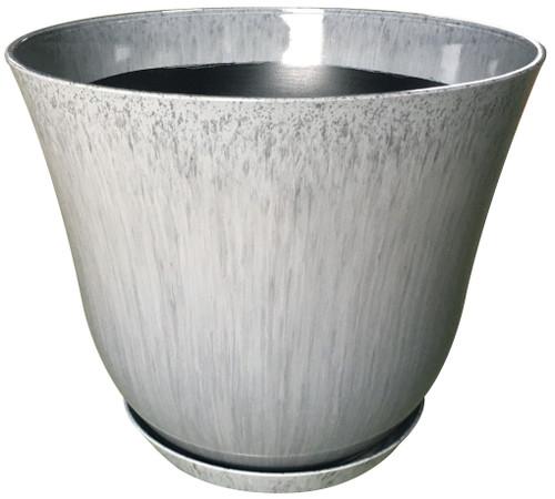 Glazed Ceramic Lily Planter Quarry - 12 inch