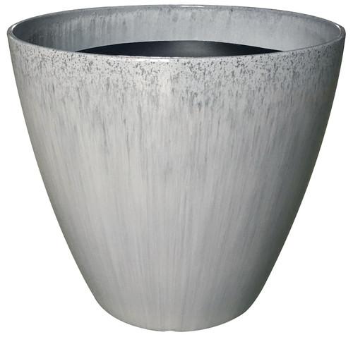 Glazed Ceramic Kurv Planter Quarry - 18 inch