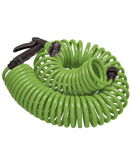 Orbit Coil Hose/Nozzle-Green - 25 Ft