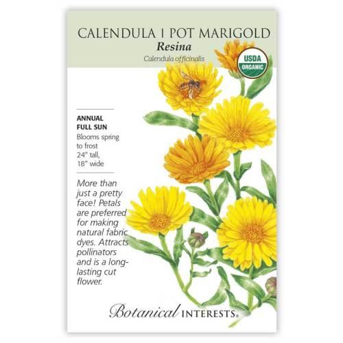 Resina Calendula (Pot Marigold) Seeds Organic