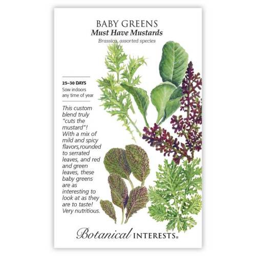 Must Have Mustards Baby Greens Seeds