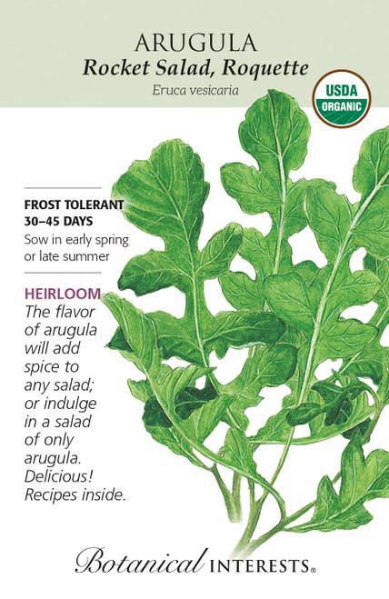 Arugula Rocket Salad Organic Organic Heirloom