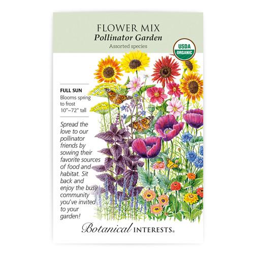 Pollinator Garden Flower Mix Seeds Organic