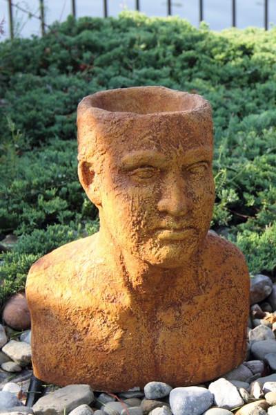 Bust Planter Man 16 inch
