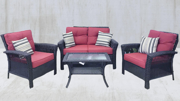 Patio Seating - Isabella 4pc Seating Group