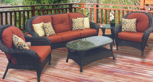 Patio Seating - Glen Isle Resin Wicker 4pc Seating Group