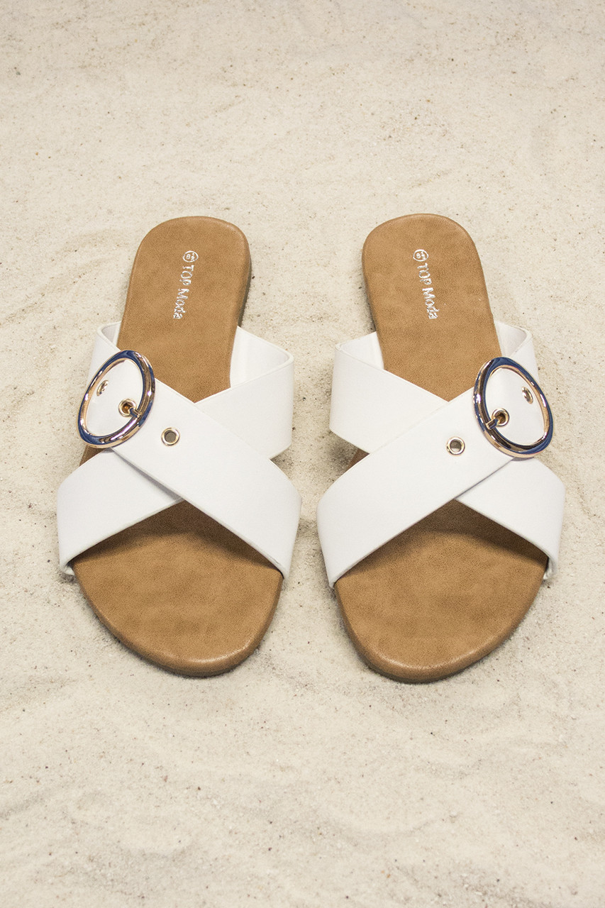 417f9ecb357b The Chelsea Sandals White - The Pink Lily