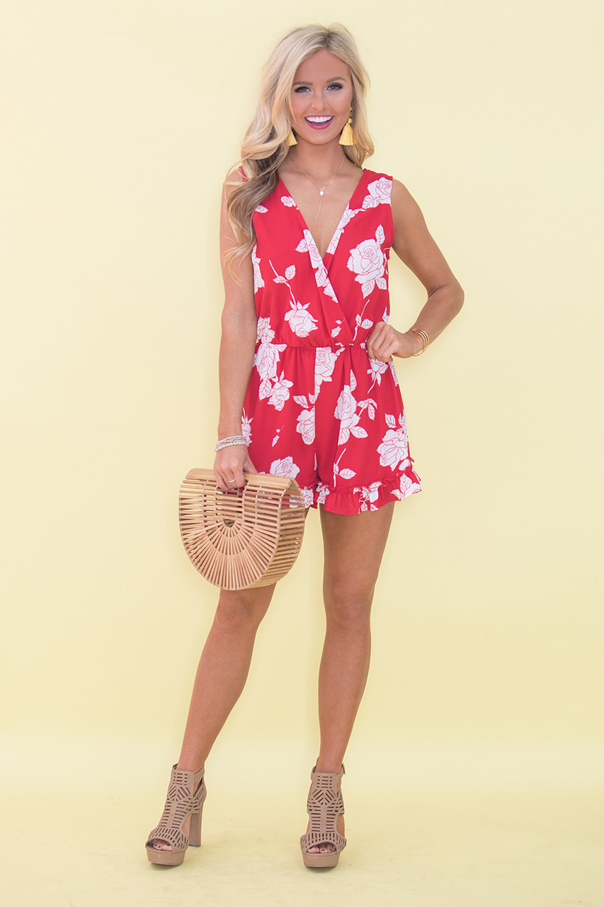 76b4982a82 Such A Wonderful Love Floral Romper - The Pink Lily