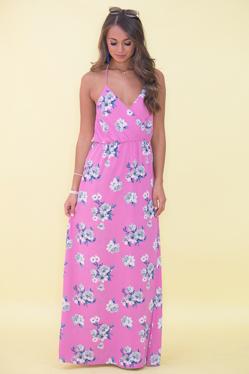 8e84f730c3 Infinite Love Floral Maxi Dress Purple CLEARANCE - The Pink Lily