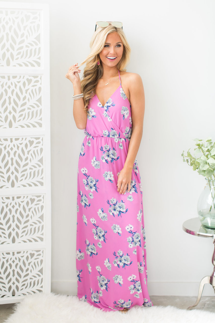 e4816a2c2e3 Infinite Love Floral Maxi Dress Purple CLEARANCE - The Pink Lily