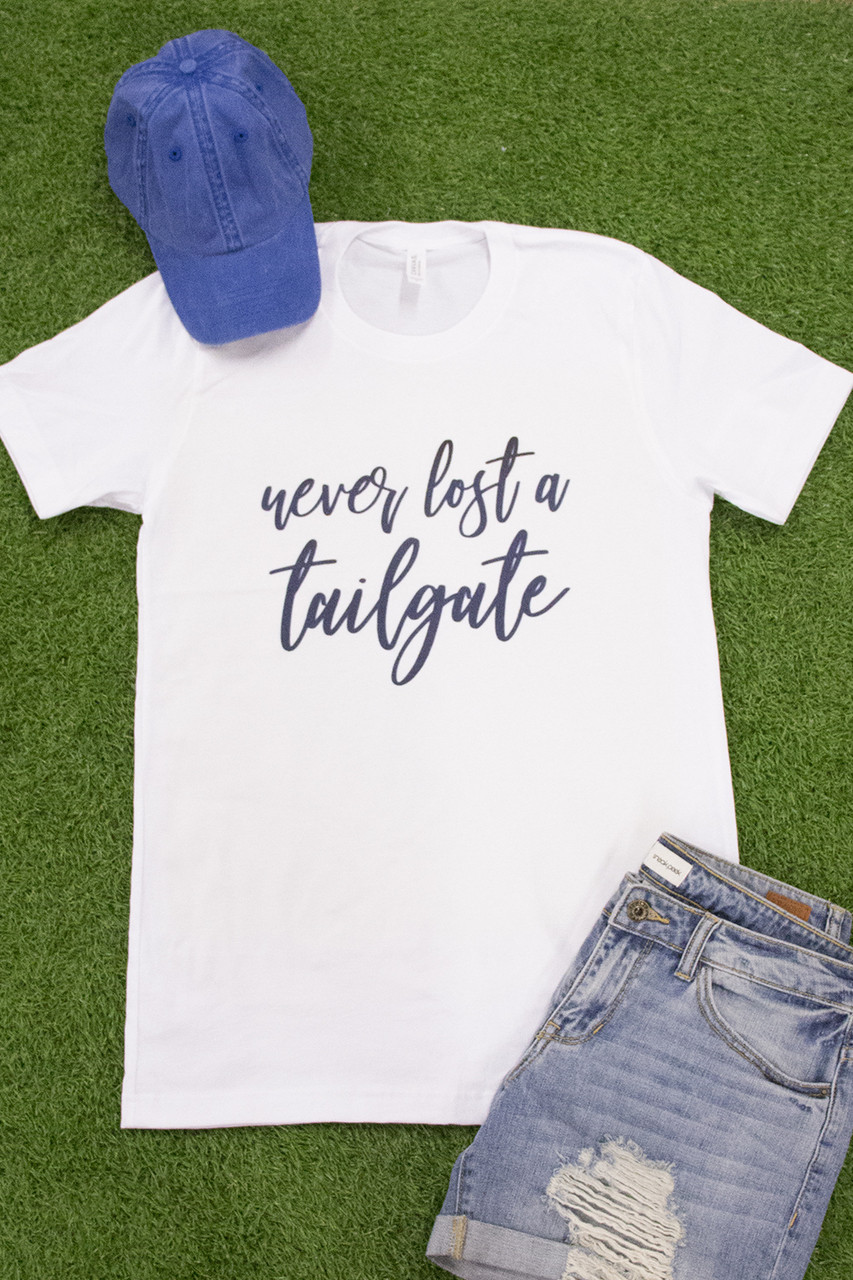 Never Lost A Tailgate Graphic Tee - The Pink Lily