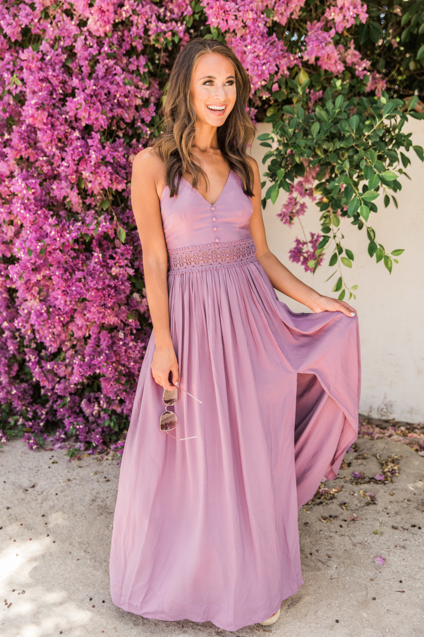 4e8a4971682250 Magic Of New Beginnings Faded Plum Maxi Dress CLEARANCE - The Pink Lily