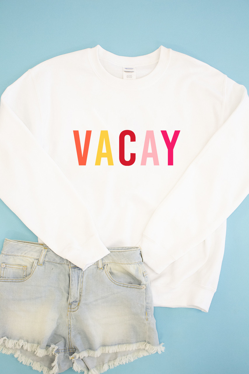 5c68d4cea Vacay Graphic Sweatshirt - The Pink Lily
