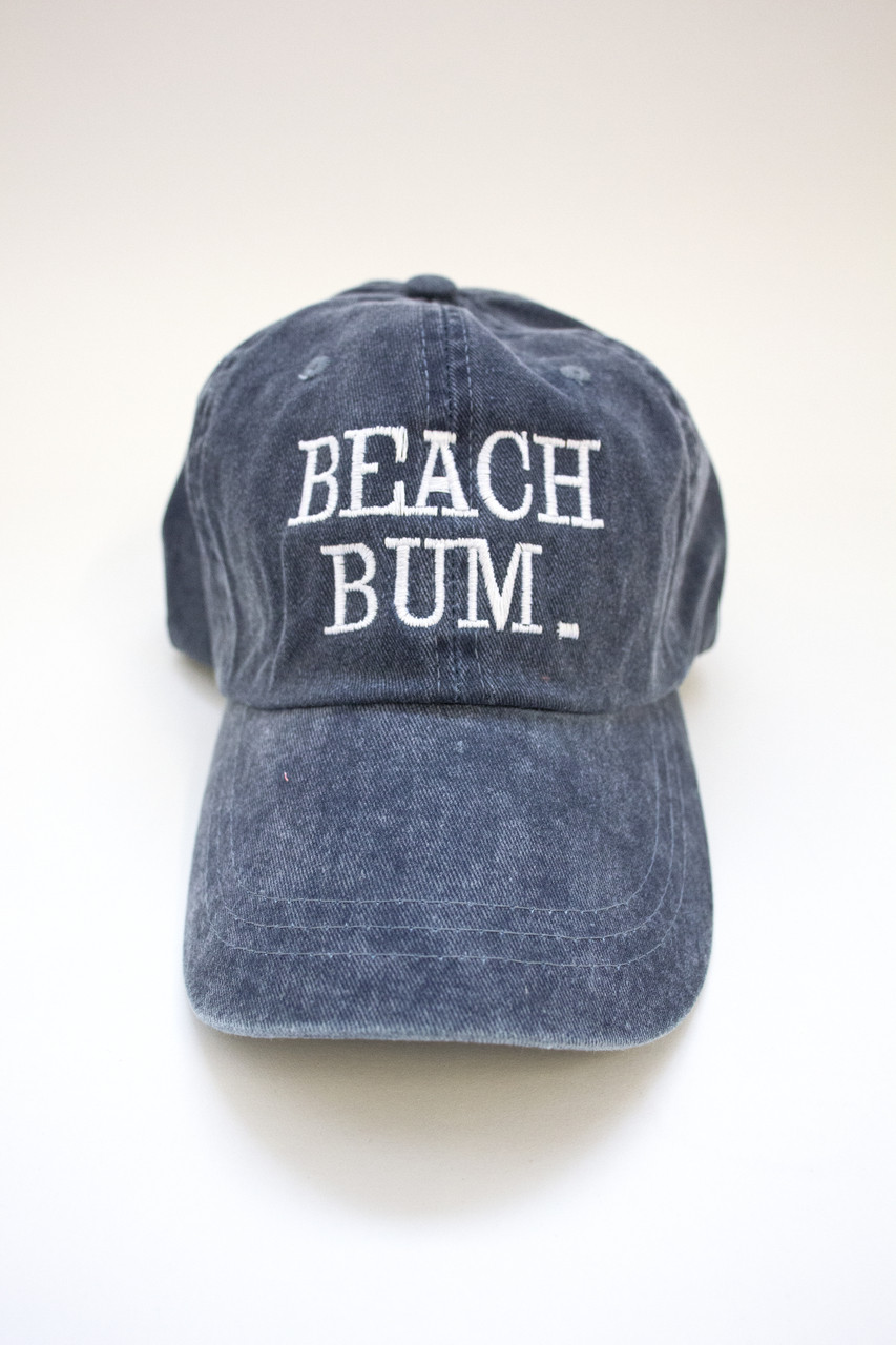 a7c2643b82627 Beach Bum Embroidered Baseball Cap - The Pink Lily