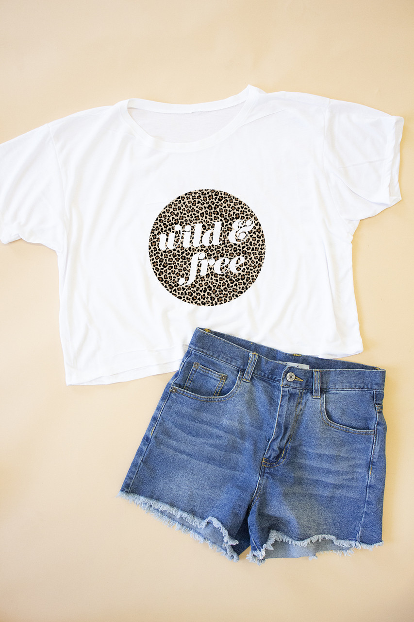 0c291f23d Wild And Free Animal Printed Cropped Graphic Tee - The Pink Lily