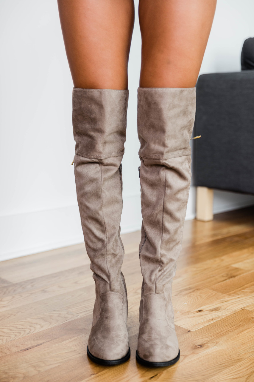 the latest 9cfdd 96cf6 The Janet Taupe Knee High Boots