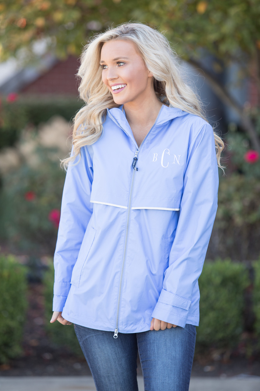 various colors hot-selling authentic really cheap Personalized Periwinkle New Englander Rain Jacket - The Pink ...
