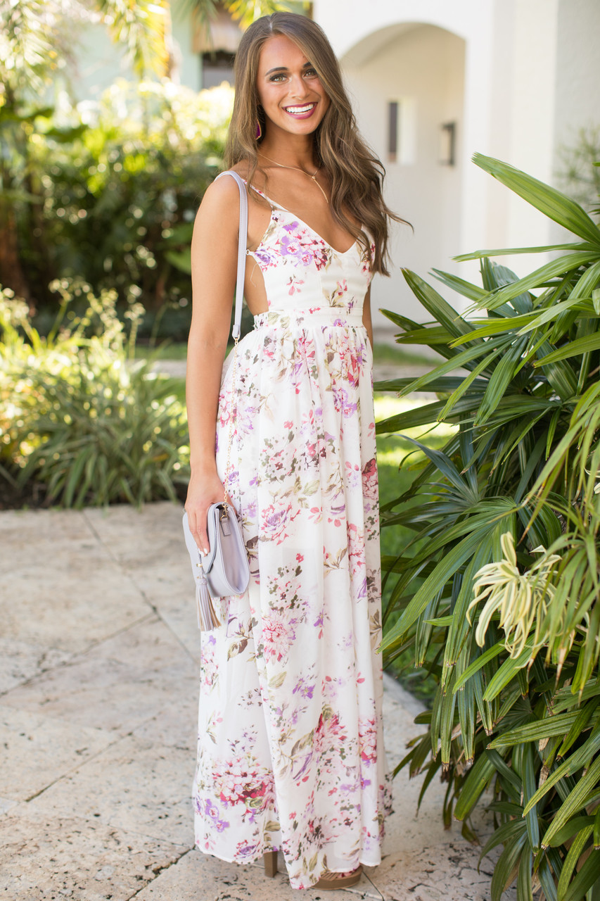 0075a7b33c Heaven On Earth Maxi Dress Ivory - The Pink Lily
