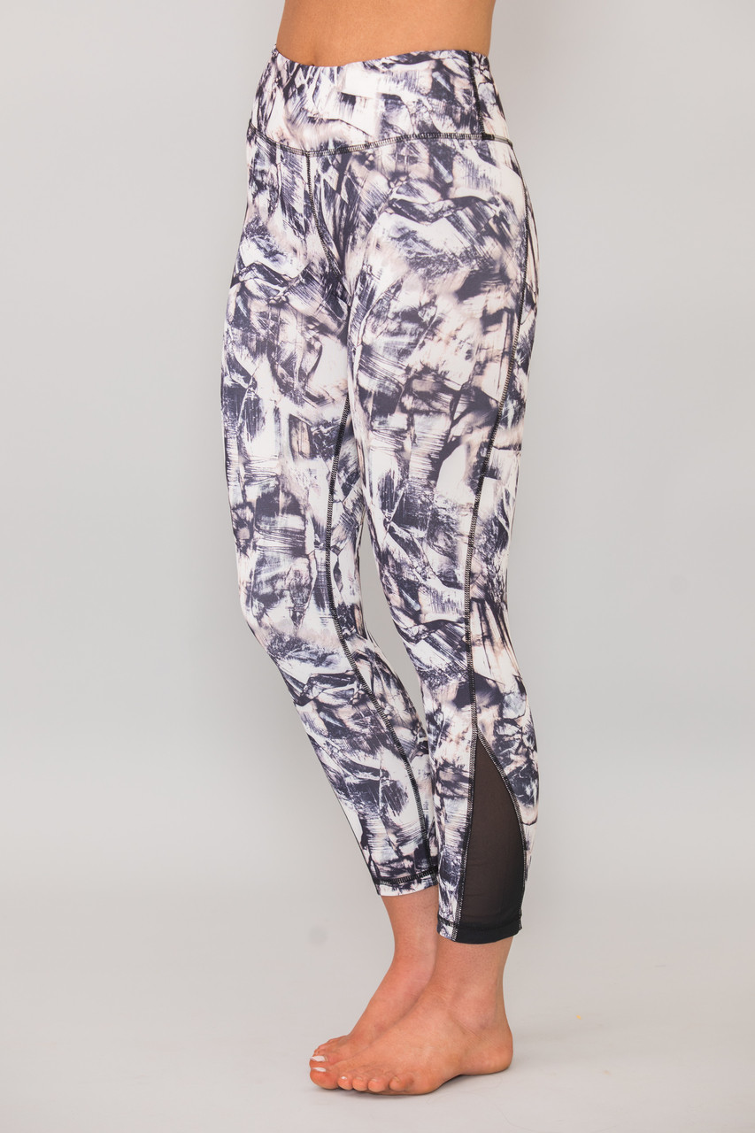 Shoot For The Moon Printed Athletic Capris - The Pink Lily a7d4b909f