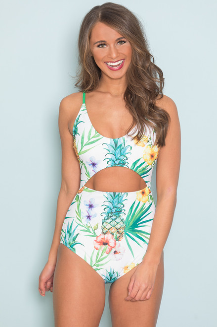 11159c54a397f Tropical Escape Swimsuit - The Pink Lily