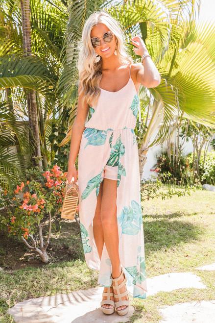 428539507b1d Pastel Paradise Maxi Romper - The Pink Lily