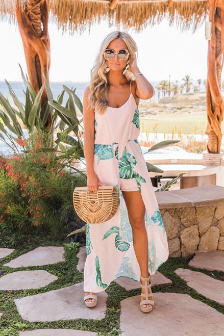 4ac6b00b6cc5 Pastel Paradise Maxi Romper - The Pink Lily