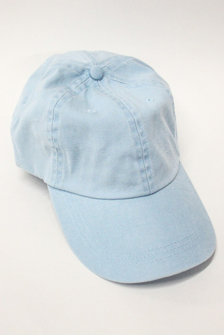 54afcadd Personalized Light Blue Vintage Baseball Cap - The Pink Lily