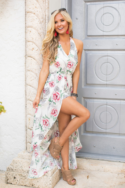 4d301786a097 Here In My Heart Floral Maxi Romper - The Pink Lily