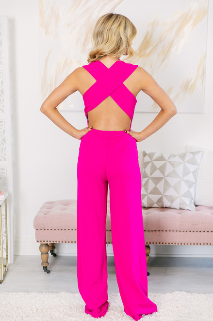 318fc6eeeda Crazy For Your Love Jumpsuit Pink - The Pink Lily