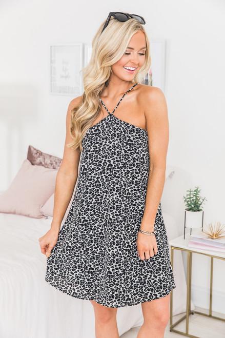 d53e9fc39f Make Life Interesting Dress Grey - The Pink Lily