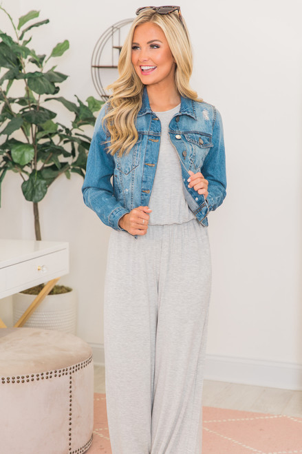 a3dc60724008 So Much Love Jumpsuit Heather Grey PREORDER - The Pink Lily