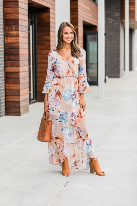 Heart Full Of Wonder Beige Maxi Dress