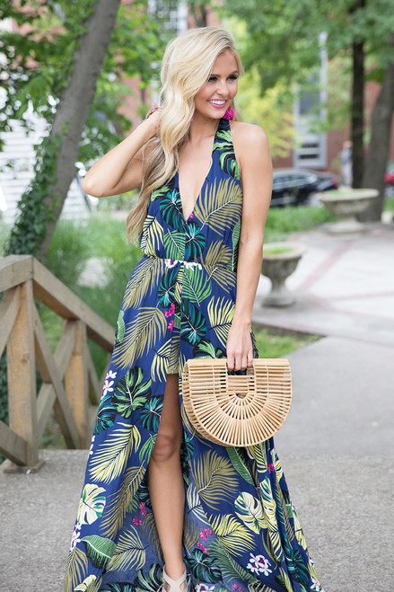 67d32cf6eb3a Island Intuition Floral Maxi Romper - The Pink Lily
