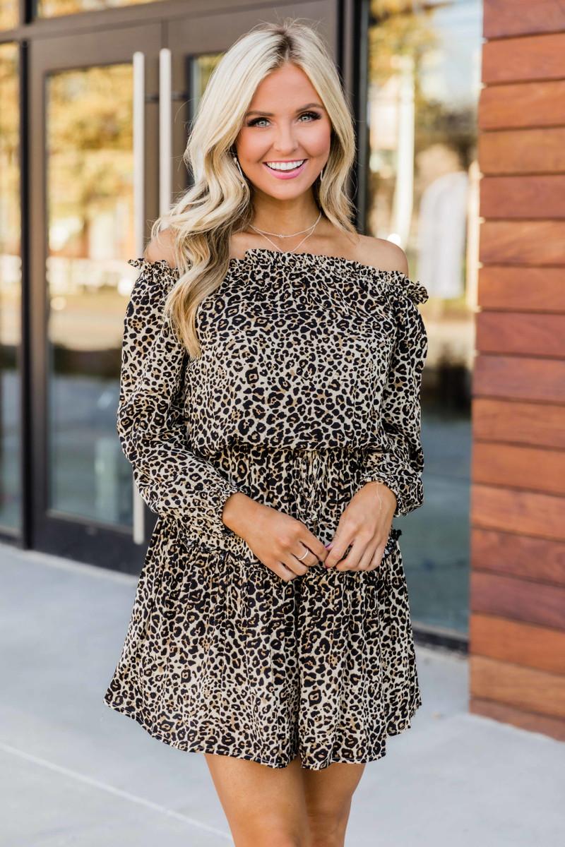 Just For Me Animal Print Dress