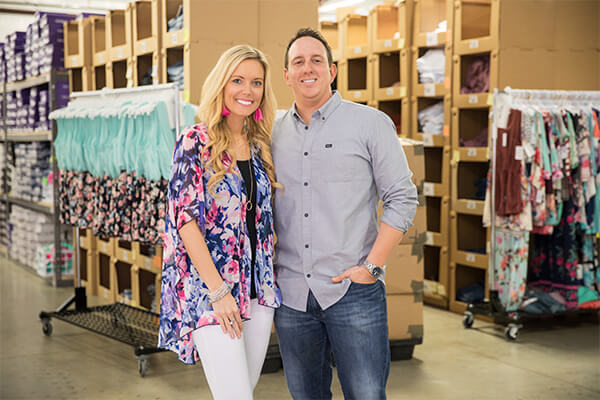The Pink Lily Boutique's owners, husband and wife team Chris and Tori