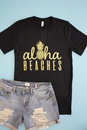 Aloha Beaches Pineapple Vinyl Tee b8db433f3