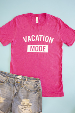 07bcb5bd767 Vacation Mode Graphic Tee